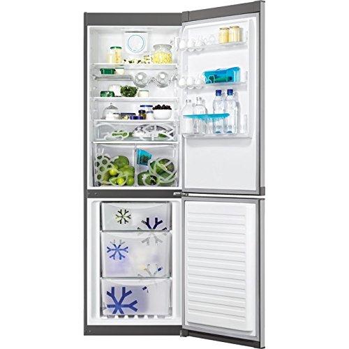 Zanussi ZRB34315XA Autonome 318L A++ Gris réfrigérateur-congélateur - Réfrigérateurs-congélateurs (318 L, SN-T, 43 dB, 4 kg/24h, A++, Gris)