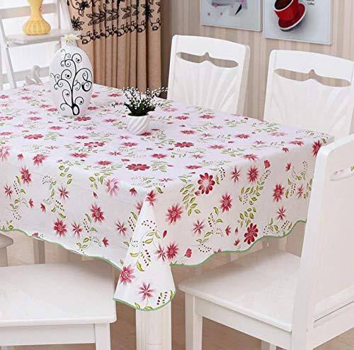 ggzgyz Jardín Mantel Impermeable Mantel Cuadrado Mantel de PVC hogar Cocina Comedor rectángulo