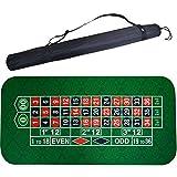 180 * 90cm quadrato di gomma verde roulette Black Jack poker tavolo tappetino gioco da tavolo panno con borsa a tracolla