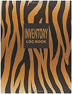 Inventory Log Book: Tiger Leather Look | Cute Inventory Log Book for Small Business or Personal | 110 Pages