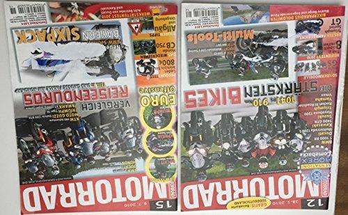 MOTORRAD 12 Die stärksten Bikes (28.05.2010) + MOTORRAD15 Vergleich Reiseenduros (09.07.2010) Konvolut 2 Ausgaben) siehe org. Bild,