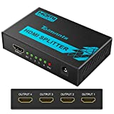HDMI Splitter 1 in 4 Out, Tolmnnts HDMI Splitter Powered by AC Adapter