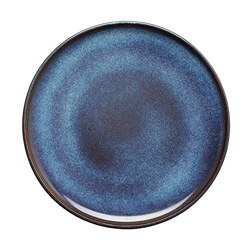 YNHNI Placa de Ensalada, nórdico Ronda de 10 Pulgadas de vajilla de cerámica, Western Restaurante Steak Plate, Hotel de la Placa de Postre, Plato de Fruta, Hogar Placa del Desayuno (Color : Set of 4)