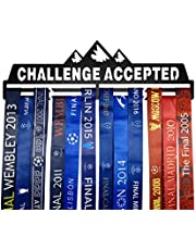 Full Health Sporting Running Medal Hangers Awards Display Medaillehouder Rack Metal Steel Wall Mounted Challenge Geaccepteerd Zwart en Zilver 2 opties