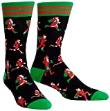Sock It to Me, Santa Run, Men's Crew Socks, Christmas, Holiday Socks