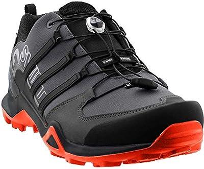 adidas outdoor Terrex Swift R2 GTX Mens Hiking Boot Grey Five/Black/Active Orange, Size 12