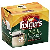 Folgers Classic Medium Roast Decaf Coffee, 19 Count Singles Serve (3 Pack)