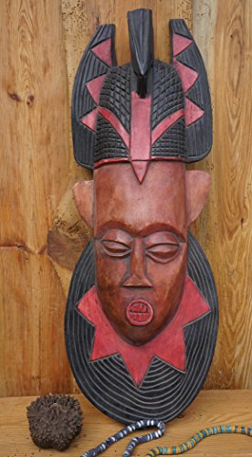 Amikazzo Ghana, Madera Máscara, Grandes Máscara Africana, 68cm