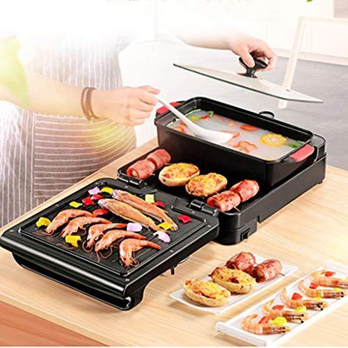 Nouvelle machine pliante multifonction électrique cuisinière barbecue Hot Pot électrique