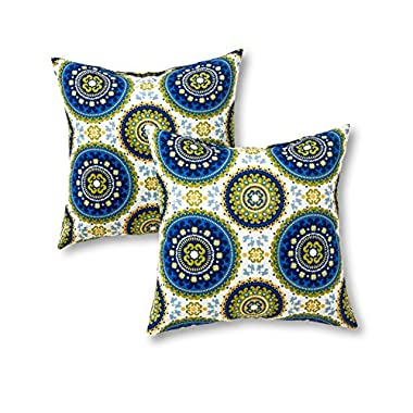 Greendale Home Fashions 17 in. Outdoor Accent Pillow (set of 2), Summer
