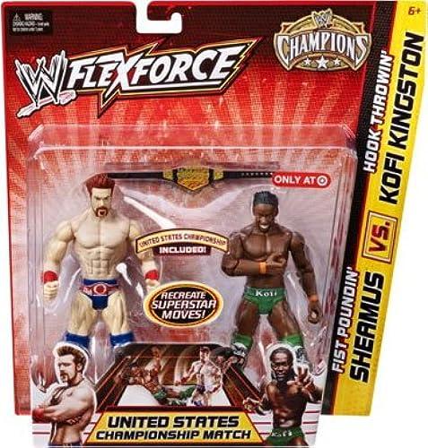 Figur WWE Kofi Kingston & Sheamus FlexForce Champions Edition