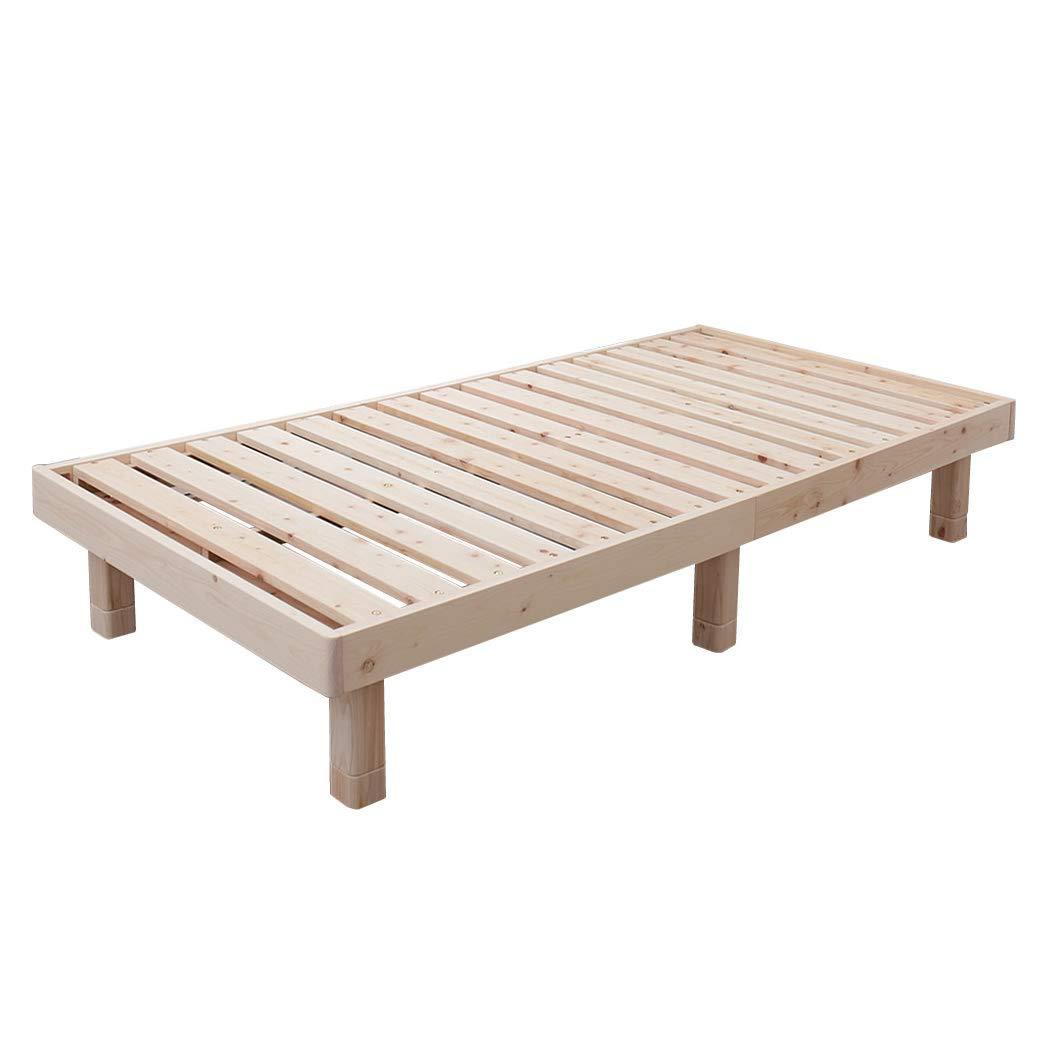 檜すのこベッド セミシングル ヘッドレス フレームのみ 総檜 床面高3段階調節