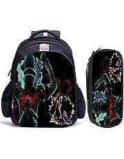 Skolryggsäck gudar domän ryggsäck manga och spel tonårspojkar flickor ryggsäckar populära lätta reseryggsäckar