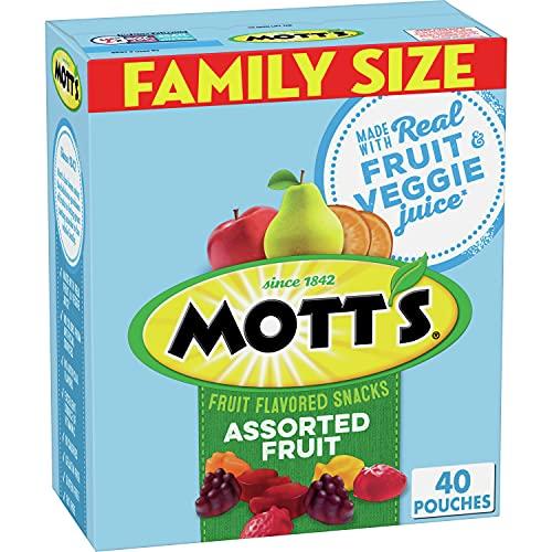Mott's Medleys Assorted Fruit Snacks, Bulk Family Size, Gluten Free, 72 oz, 90 ct