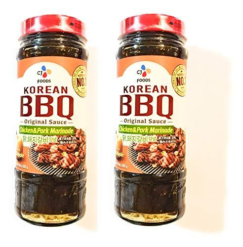 CJ Foods Korean B.B.Q Original Sauce (Chicken & Pork Marinade)16.9 Oz-2 Pack