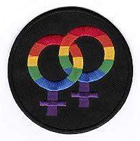 Gay Pride Woman Aufnäher / Patch 7,5 x 7,5 cm von Bienpatch