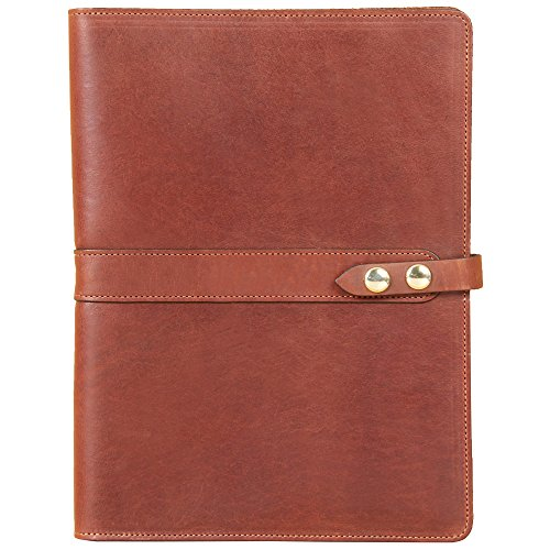 Brown Leather Tablet Portfolio Case No. 18 - USA Made, Fits iPad | Col. Littleton