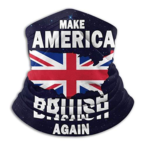 Bklzzjc Neck Gaiter Make America British Again Neck Gaiter Men Women Neck Warmer Windproof Cold Weather Work School Fishing Motorcycling
