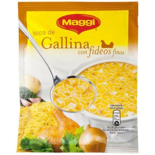 Maggi - Sopa de Gallina con Fideos Finos - 68 g - Pack de 18