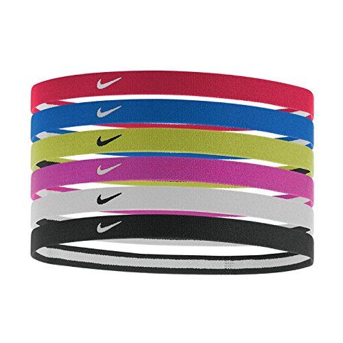NIKE Swoosh Sport Headbands 2.0, University Red/Game Royal/Volt, One Size Fits Most