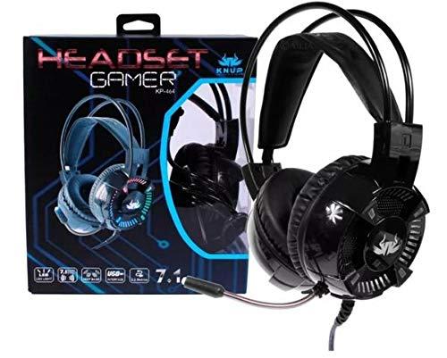 Headset Gamer 7.1 Pc Knup Kp464 P2 Usb Microfone Super Bass