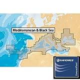Navionics, Plus Carta Nautica Mediterraneo 43XG Carte batimetriche Compact Flash