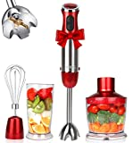 KOIOS 800W 4-in-1 Multifunctional Hand Immersion Blender, 12 Speed, 304 Stainless Steel Stick Blender,...
