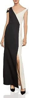 BCBG Max Azria Womens Colorblock Sleeveless Evening Dress