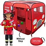 Fire Truck Pop-Up Play Tent (Without Step) for Easy Access for...