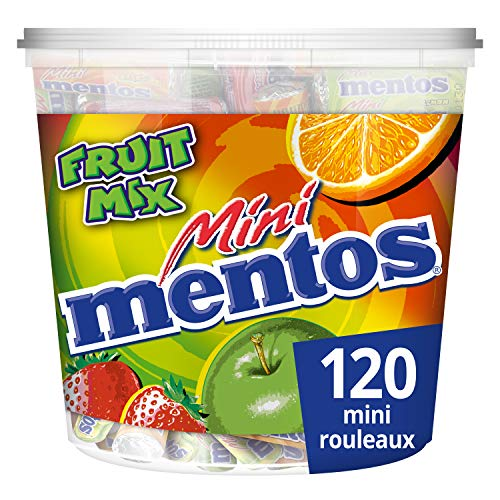 Mentos Tubos de 120 Rouleaux Mini Fruits 1,32 kg