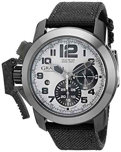 Graham Men's 2CCAU.S01A Chronofighter Analog Display Swiss Automatic Black Watch