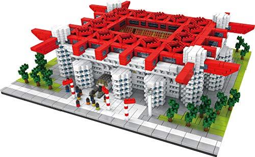 El nuevo bloque de construcción Estadio de fútbol de Milán Nano Micro Bloques Juguetes de construcción,3800 + Pcs Nano Mini Bloques Juguetes de bricolaje,Rompecabezas 3D Juguete educativo de bricolaje