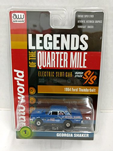 Auto World SC319 Legends of the Quarter Mile Georgia Shaker 1964 Ford Thunderbolt HO Scale Electric Slot Car