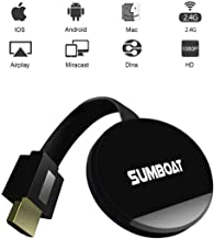 $30 » SUMBOAT WiFi Display Dongle for TV, High Speed HDMI Miracast Dongle Compatible with Android Smartphone Tablet Apple iPhone iPad, 1080P Wireless HDMI Dongle (Black) X5062
