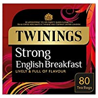 [Twinings] トワイニング強いイングリッシュ・ブレックファースト80ティーバッグ250グラム - Twinings Strong English Breakfast 80 Tea Bags 250G [並行輸入品]