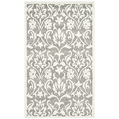 Safavieh Amherst Collection AMT424R Dark Grey and Beige Indoor/Outdoor Area Rug (3' x 5')
