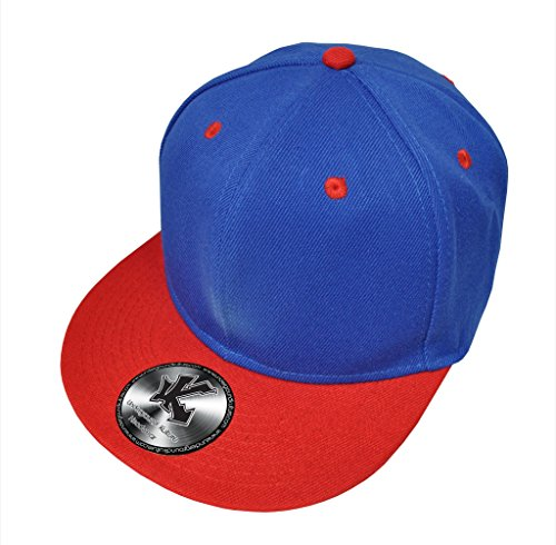 Caquette de Baseball Réglable 2 Couleur Bleu & Rouge (Blue/Red Snapback)