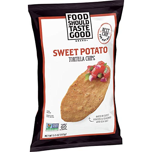 Food Should Taste Good, Tortilla Chips, Sweet Potato, Gluten Free Chips, 5.5 oz