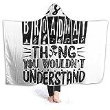 XCNGG Manta con Capucha Hooded Blanket Throw Broadway Thing Super Soft Sherpa Fleece Blanket Hood Poncho Cloak Cape