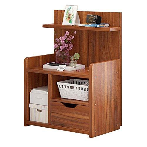Table de chevet JCOCO Panneau à Base de Bois Chevet, avec tiroirs et tablettes de Rangement, Chambre Casier de Chevet Boîte de Rangement Mini (Couleur : #1, Taille : 43 * 27 * 60cm)