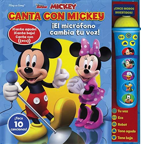 Libro de sonido con micrófono: Canta con Mickey