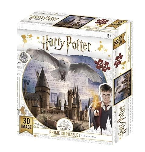 Prime 3D- Redstring-Puzzle Harry Potter Hogwarts & Hedwig 500 Pieza (Efecto 3D) (5111513)