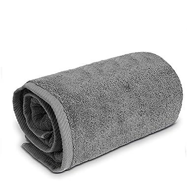 Turkuoise Premium Quality Bath Sheet, Extra Large, 100% Turkish Cotton (Gray, 40x80 Inches)