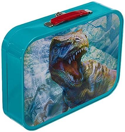 Schmidt Spiele Dinosaurier-Puzzle-Box im Metallkoffer