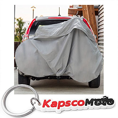 North East Harbor Deluxe Bike Rack Cover Hitch Mounted SUV Truck RV Hanging Racks up to 2 Bicycles + KapscoMoto Keychain