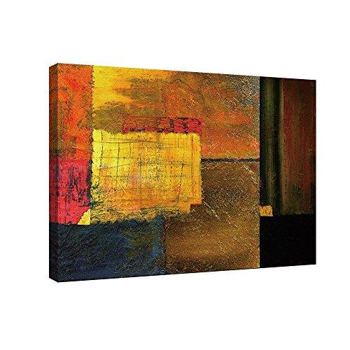 SUMGAR abstracte schilderijen op canvas boven open haard rood en zwart denken uit de doos klaar om op te hangen grote muur kunst voor woonkamer