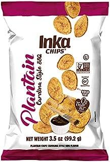 Inka Crops Inka Plantain Chips, Carolina Style BBQ Flavor, 3.5 Ounce (Pack of 12)