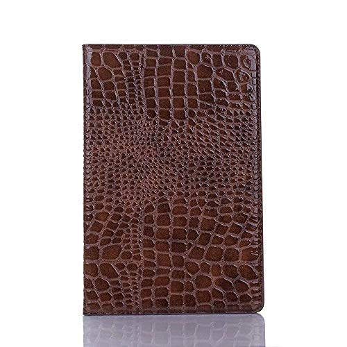 AXRXMA Crocodile Leather Twitch Stand Light-Weight Tablet Case Cover Compatible with Galaxy Tab S5e 10.5 inch 2019 SM-T720/SM-T725 (Color : Brown)