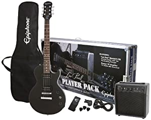 epiphone les paul electric guitar player pack review