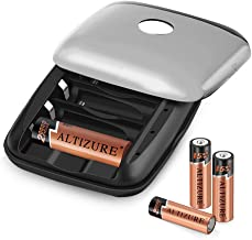 Abosi 15 Minutes Full,20000 Cycles Rechargeable AA Battery Charger with 4 AA Rechargeable Lithium Ion Batteries (Charging Cable Included)
